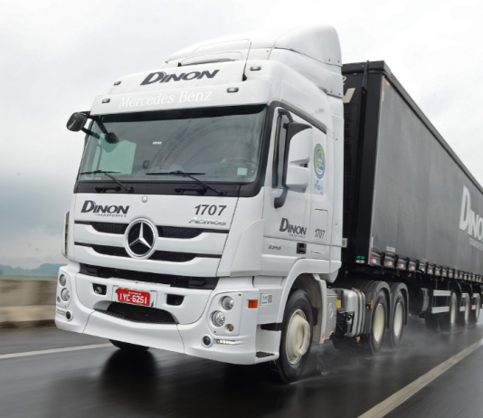 Uma parceria da Mercedes-Benz com o Grupo HEINEKEN e a Dinon Transportes, em prol da redução de emissões e sustentabilidade ambiental.