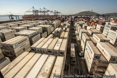 As exportações de carne de porco pelo Porto de Paranaguá cresceram 58% na comparação entre o primeiro semestre de 2018 e o de 2019