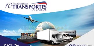 No próximo dia 22 de agosto será realizada a10ª Conferência de Transportes de Cargas.O evento ocorrerá em São Paulo e deve discutir soluções e cases