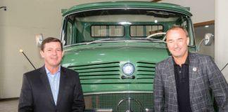 O prefeito de São Bernardo, Orlando Morando, e o presidente da Mercedes-Benz no Brasil e na América do Sul, Philipp Schiemer, firmaram, nesta quarta-feira (11/09),