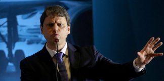O Ministro da Infraestrutura, Tarcísio Freitas falou com a imprensa sobre projetos e leilões para 2020 após participar de reunião de mais de três horas com empresários