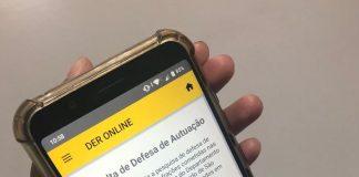 A partir de hoje, 02, o aplicativo DER online ganha uma nova função e passa a permitir a Defesa de Autuação. Dessa forma, caso discorde de uma autuação
