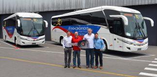 A Expresso Frederes S.A. adquiriu dois novos ônibus Marcopolo Paradiso 1200. A empresa que comemora 80 anos em 2019, utilizará os modelos nas linhas