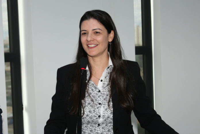 Durante almoço da Plena , realizado na sede da entidade, nesta terça-feira (12), Ana Carolina Jarrougue foi anunciada pelo president