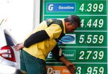 O preço médio da gasolina comum no Brasil subiu 0,68% em novembro na comparação com o mês anterior, de acordo com levantamento feito pela ValeCard,
