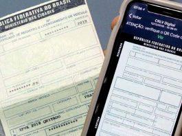 A versão digital do Certificado de Registro e Licenciamento de Veículo (CRLV), mais conhecido como documento do veículo, já está disponível em todo o país.