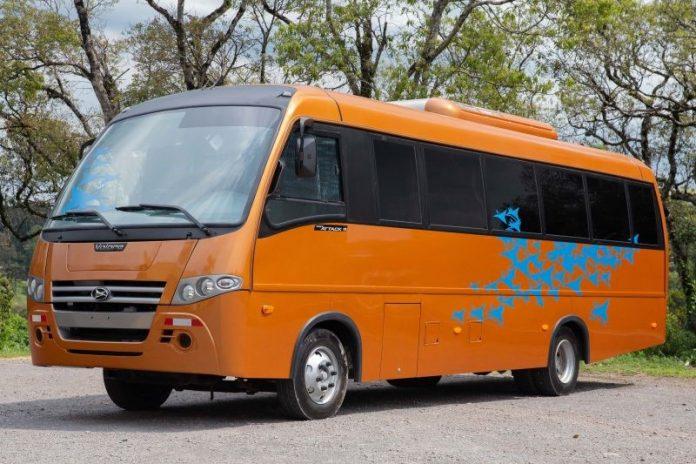 Para atender o mercado da Costa Rica, a Volare acaba de desenvolver um novo modelo do seu miniônibus Attack 9 com chassi Volkswagen 9.160.