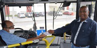 A BR7 Mobilidade, nova operadora de transporte público de São Bernardo do Campo, começará, no próximo dia 4 de maio, a distribuir máscaras de pano,