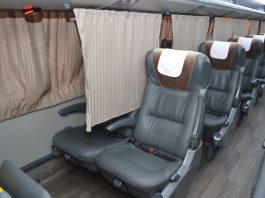 O Grupo Garcia-Brasil Sul (GBS) está ampliando a instalação de cortinas entre poltronas nos ônibus para a separação dos passageiros.