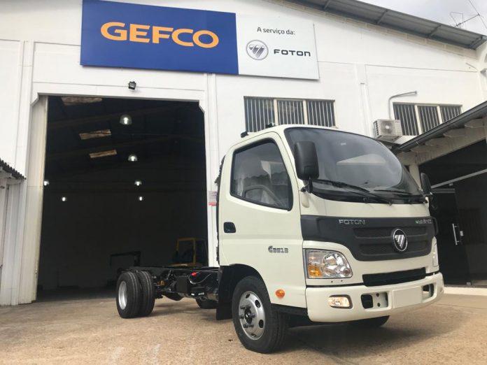 A Foton já começou a produção na linha de montagem estruturada em Guaíba, RS. Dessa forma, o primeiro caminhão, um veículo leve da Família Minitruck,