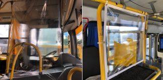 A partir de hoje a Prefeitura de Salvador começou a implantar barreiras físicas, com cortinas de plástico transparente, nos postos de trabalho de motoristas