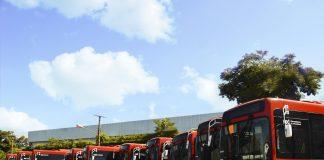A Caio Induscar, em parceria com a Scania, iniciou no mês de maio a entrega de 355 novos ônibus para o sistema de transporte da cidade de Santiago, Chile