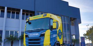 A Scania entregou, na manhã desta quarta-feira (17), o quinto caminhão movido a GNV e/ou biometano do Brasil. Assim, o Grupo Charrua, q