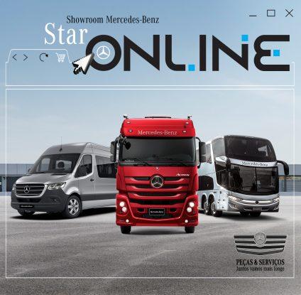 A Mercedes-Benz do Brasil lançou um showroom virtual para vender caminhões zero-quilômetro. Dessa forma, nasceu a Star Online,
