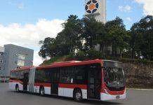 A Marcopolo, em parceria com a Mercedes-Benz, chegaram a marca de quase 600 ônibus fornecidos para o transporte publico de Santiago, no Chile.