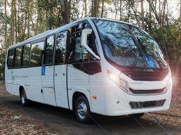 Recentemente, a Caio Induscar apresentou ao mercado de mobilidade, uma nova versão do micro-ônibus F2400, que passou por mudanças em seu design