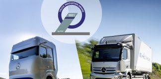A Mercedes-Benz acaba de faturar o prêmio International Truck of the Year (IToY), que concedeu seu prestigioso Truck Innovation Award 2021 a dois caminhões