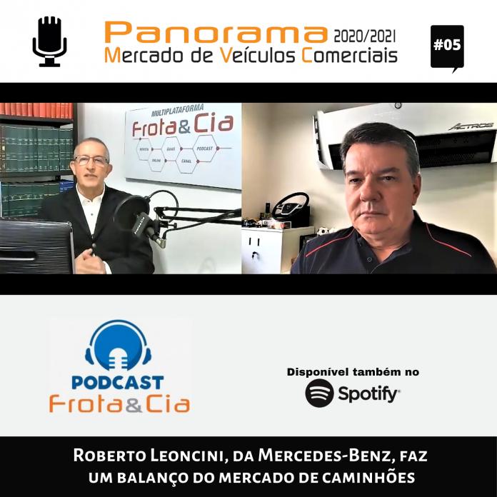 Roberto Leoncini, Vice-Presidente de Vendas, Marketing e Pós-Venda de Caminhões e Ônibus, da Mercedes-Benz, comemora a manutenção da liderança