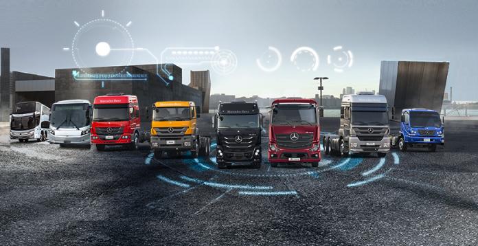 Apesar de acusar um recuo no volume de licenciamentos em 2020, tanto no segmento de caminhões quanto de ônibus, a Mercedes-Benz