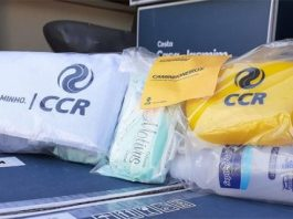 A CCR vai distribuir, hoje, 26, kits de higiene à caminhoneiros na via Dutra na região de Queluz (SP). Dessa forma, a companhia auxilia na prevenção e