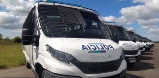 O Ministério de Segurança de Buenos Aires recebeu da Iveco Bus 80 unidades de Eurobus. Assim, reforçam a frota argentina os modelos configurados