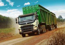 Raízen recebe 210 caminhões da Volvo para o transporte de cana-de-açúcar. Os novos caminhões começam a operar entre os dias 21 e 22 deste mês.
