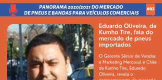 O diretor Sênior de Vendas e Marketing Mercosul e Chile da Kumho Tire, Eduardo Oliveira, revela o comportamento do mercado brasileiro de
