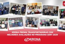 DeztransportadorasreceberamdaKrona Tubos e Conexões umapremiaçãopor seu desempenho no Programa CERT - Competência, Equilíbrio e Responsabilidade