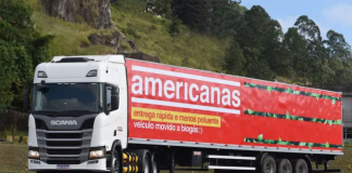 AScania do Brasilvendeu dez caminhões a gás para aB2W Digital. Com isso, a empresa que é dona das marcas Americanas, Submarino, Shoptime e Sou Barato
