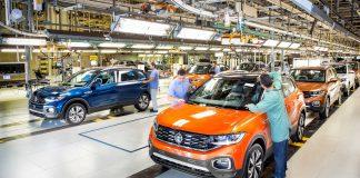 Volkswagen confirma paralisação nas linhas de produção das fábricas de São Bernardo do Campo (SP) e de São Carlos (SP) por falta de semicondutores.
