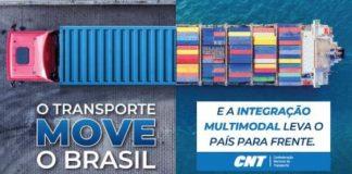 """A Confederação Nacional do Transporte (CNT) iniciou nesta semana a segunda fase da campanha """"O Transporte Move o Brasil""""."""