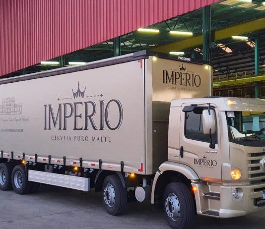 A Cervejaria Imperial acaba de receber as últimas unidades de um lote de mais de 400 veículos da Volkswagen Caminhões e Ônibus (VWCO).