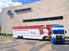 Pela primeira vez, a Fundação Grupo Volkswagen está levando o projeto Carretas do Conhecimento para o Estado do Rio de Janeiro, no município de Resende.