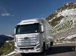 A Hyundai ´projeta ter 1600 unidades do Hyundai Xcient Fuel Cell nas estradas suiças até 2025. O veículos é a grande aposta da marca sul-coreana para