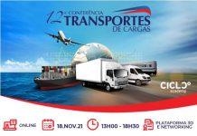 A 12ª Conferência de Transportes de Cargas acontecerá no dia 18 de novembro entre 13h e 18h30. Realizada pelo CICLO Academy